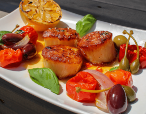 Enjoy our recipe for capesante scottate alla Caprese